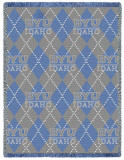 Brigham Young Idaho Plaid Throw Blanket