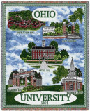Ohio University Throw Blanket