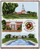 University of Maryland, Collage Throw Blanket
