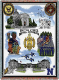 US Naval Academy Throw Blanket