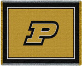 Purdue University, Large P Throw Blanket