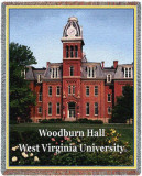West Virginia University, Woodburn Hall Throw Blanket