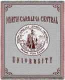 North Carolina Central University Throw Blanket