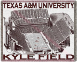 Texas A&M University, Kyle Field Throw Blanket