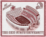 Ohio State University, Stadium Throw Blanket