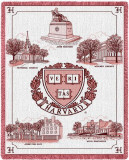 Harvard University, Collage and Seal Throw Blanket