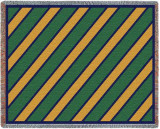 Spirit: Green and Gold and Blue Throw Blanket