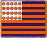 Clemson University, Flag Throw Blanket