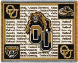 Oakland University, Grizz Throw Blanket