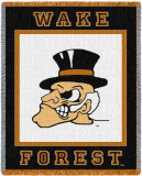 Wake Forest University, Deacon Head Throw Blanket