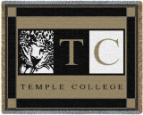 Temple College Throw Blanket