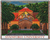 Stanford University, Memorial Church Throw Blanket