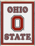 Ohio State University, Plaid Letters Throw Blanket