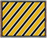 Spirit: Black and Gold Throw Blanket