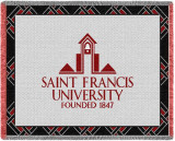 St Francis University, Logo Throw Blanket