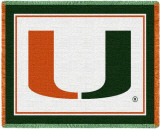 University of Miami Throw Blanket