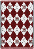Miami of Ohio University, Plaid Throw Blanket