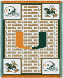 University of Miami, Logo Throw Blanket