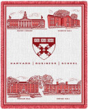 Harvard University, Business School Seal Throw Blanket