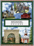 McDaniel College, Collage Throw Blanket