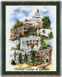 Medical College of Georgia Collage Throw Blanket