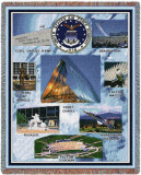US Air Force Academy, Collage 2008 Throw Blanket