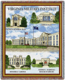 Virginia Military Institute, Collage Throw Blanket
