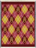 Tuskegee University, Plaid Throw Blanket