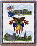West Point, Collage Throw Blanket
