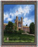 Washington University, Brookings Hall Throw Blanket