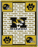 University of Missouri, Go Tigers Throw Blanket