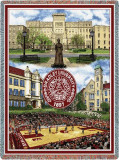 Bradley University, Collage Throw Blanket