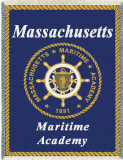 Massachusetts Maritime Academy Throw Blanket