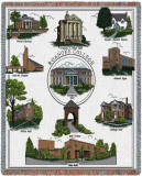 Roanoke College, Collage Throw Blanket