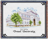 Drexel University, Old Main Throw Blanket