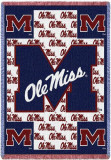 University of Mississippi, Ole Miss Logo Throw Blanket