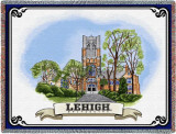 Lehigh University, Building Wordmark Throw Blanket