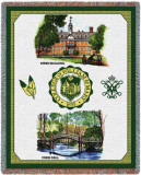 William & Mary, Collage Throw Blanket