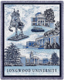 Longwood University, Collage Throw Blanket
