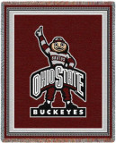 Ohio State University, Buckeyes Mascot Throw Blanket