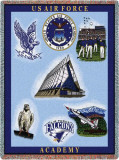US Air Force Acedemy, Collage II Throw Blanket