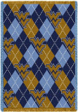 West Virginia University, Plaid Throw Blanket