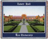 Rice University, Lovett Hall Throw Blanket