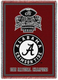 University of Alabama, National Champions A Logo Throw Blanket