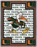 University of Miami, Ibis Throw Blanket