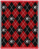 University of Georgia, Plaid Throw Blanket
