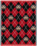 Ohio State University, Plaid Throw Blanket