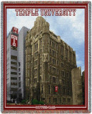 Temple University, Conwell Hall Throw Blanket