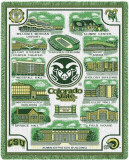 Colorado State University, Collage Throw Blanket