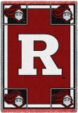 Rutgers University, R and Knight Throw Blanket